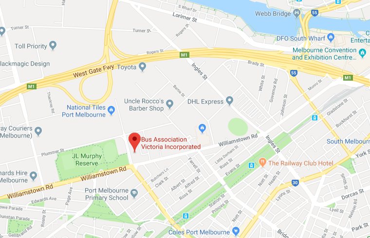 Map to get to BusVic